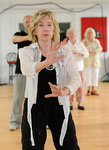 Tania Barricklo-Daily Freeman                      Celeste Graves leads a Tai Chi for Health class at the Pine Hill Community Center Thursday morning frrom 9-10 am. The class, which is based on the Paul Lam program, is sponsored by the center and is offered  for $2.50. Graves will be offerning classes through the Ulster County Office for the Aging in Kingston in late September which are free. For info. on Kingston classes, call  (845) 340-3456.