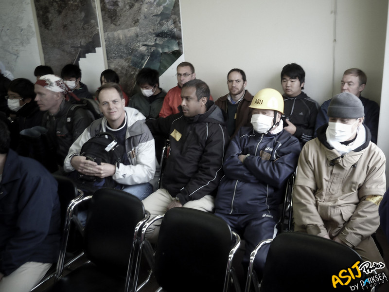 ASIJ Team awaits directions for their task<br /> <br /> Photo by: Tim Olson