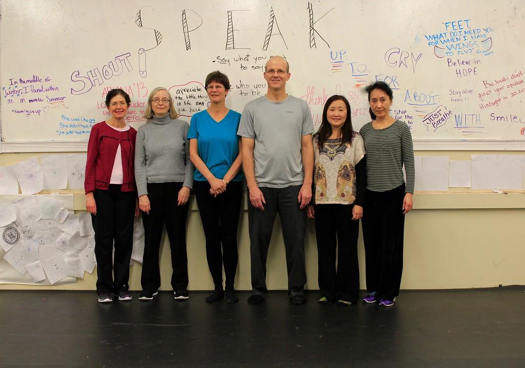 Advanced Tai Chi class: Elaine, Cindy, Nancy, Simon, Siewjoo, Virginia.