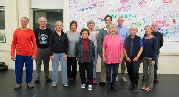 Beginners' Tai Chi class: Dan, Thomas, Geneen, Carol, Ethie, Marion, Joseph, Stella, Dan, Michele, cecile, Chip.