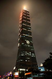 Taipei 101 at night.