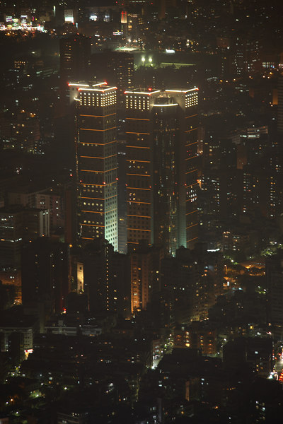 Far Eastern Plaza Hotel at night.