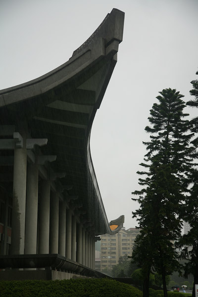 Sun Yat-sen Memorial Hall, showing quite how hard the rain was falling.