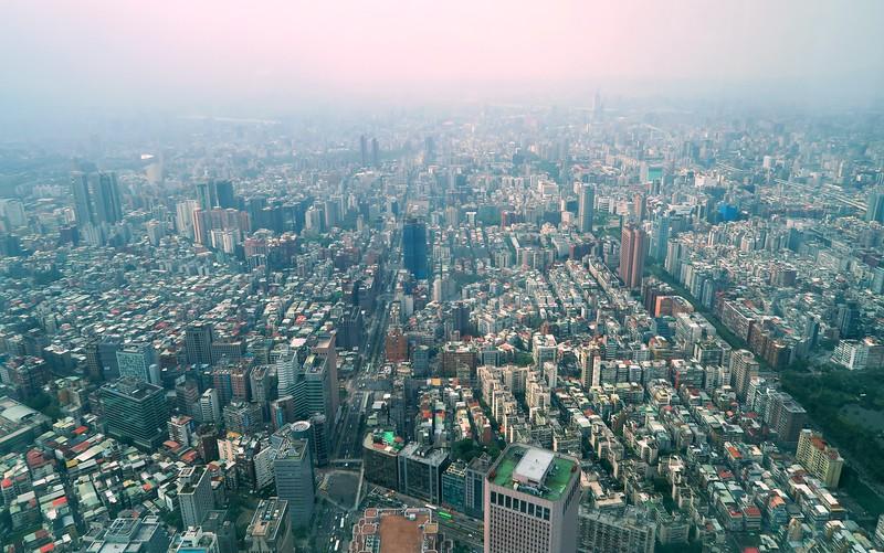 Views from Taipei 101.
