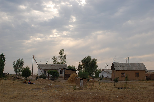 A small farm on the road to Osh.