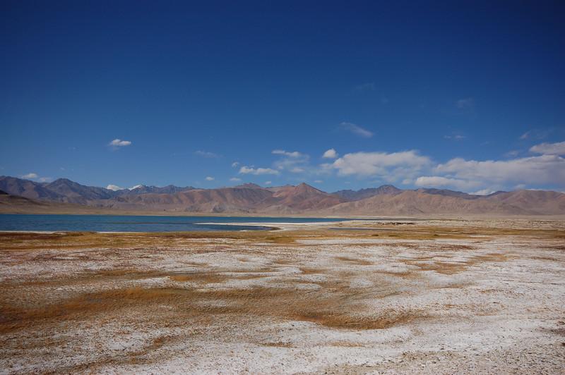 The salty banks of Sassyk Kul Lake