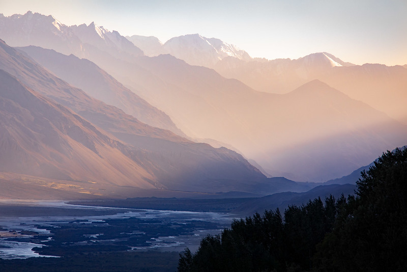 The Panj river and Hindu Kush. View from Vichkut