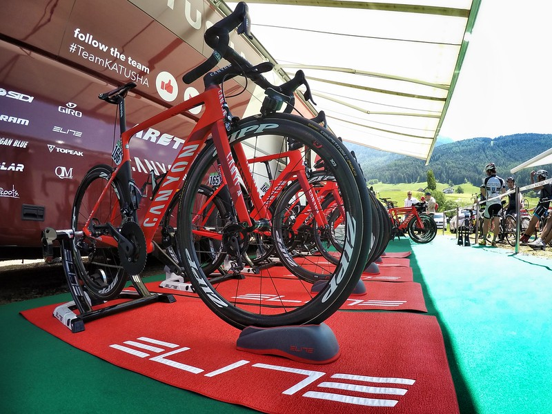 Giro gives full access to team warm up area