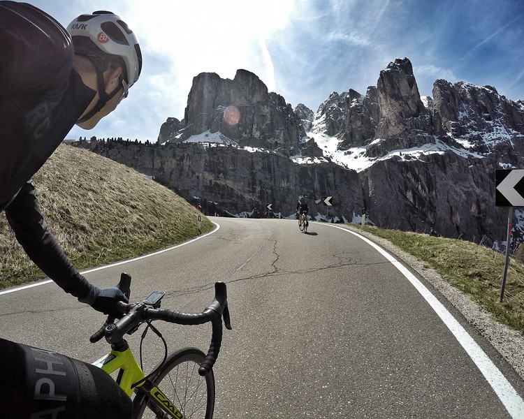 Passo Gardena. I think there is a name of 5 tower on these mountain caps?