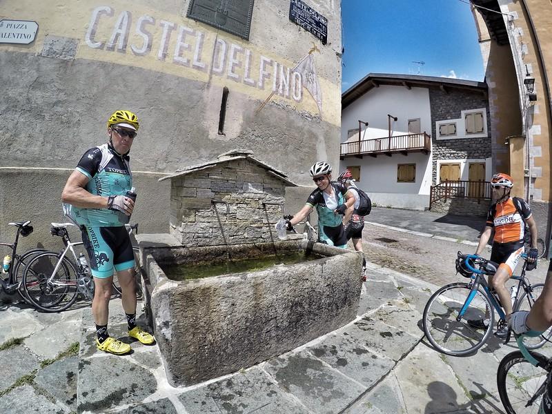 a fountain at .... Castel Delfino