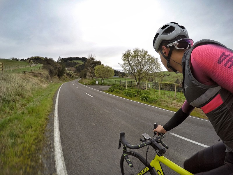 Riding through nearby hilly roads of Napier