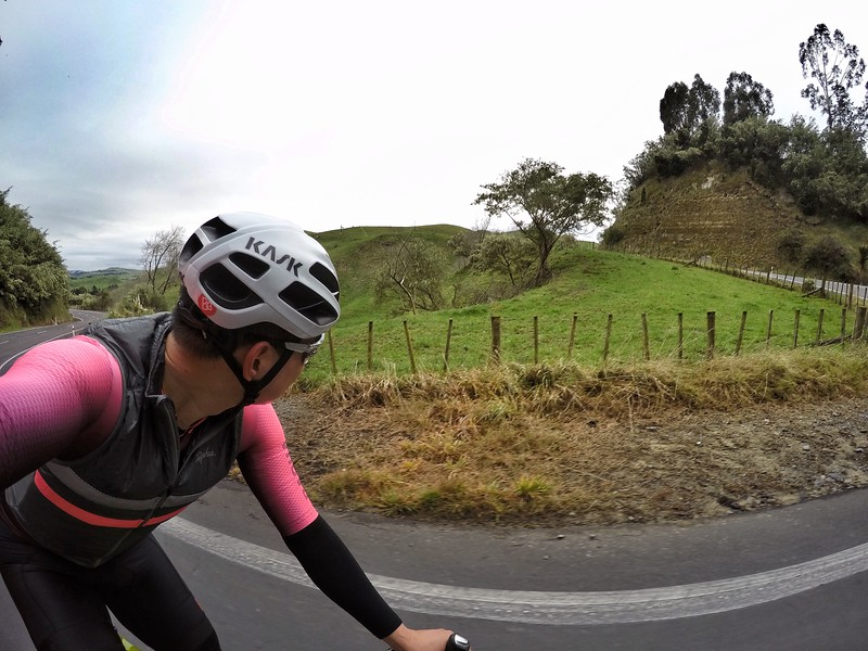 Roads are twisty for cars but great for climbing on bikes