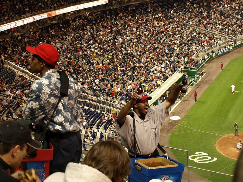 """Beer here!"" May 23, 2008, Nationals Park, Washington, DC."