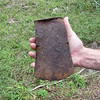 We find this old axe head laying in the dirt.  White settlers were in these woods as early as 1860.  Hostile Ute Indians made exploration here life threatening.