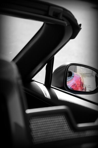 Reflection in rear view mirror...C. Davis