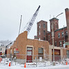 Fitchburg has started to take down the old fire station on the corner of Fox and Elm streets in this week. SENTINEL & ENTERPRISE/JOHN LOVE