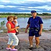 Cindy Collins (Barbaras youngest sister) with son and Brian on Talafa dam bank.