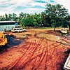 Steve McKays scraper doing a dam at Yalafa.