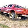 Harley on the left & Mulga Bill in Kristle's Toyota SR5 on Talafa dam bank 2001