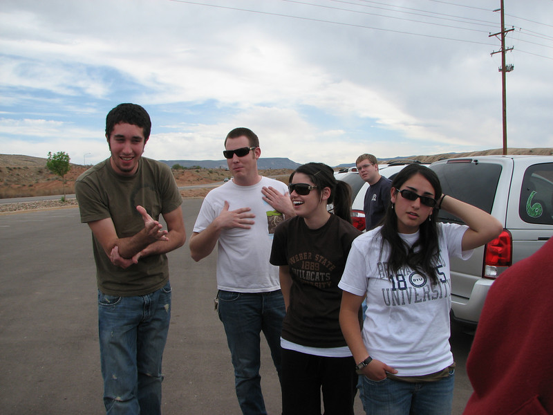 2007 04 06 Fri - Outside Calvary Chapel St  George - John Dunne, Gordo Hendrickson, Ashley Marino, & Marisa Casias