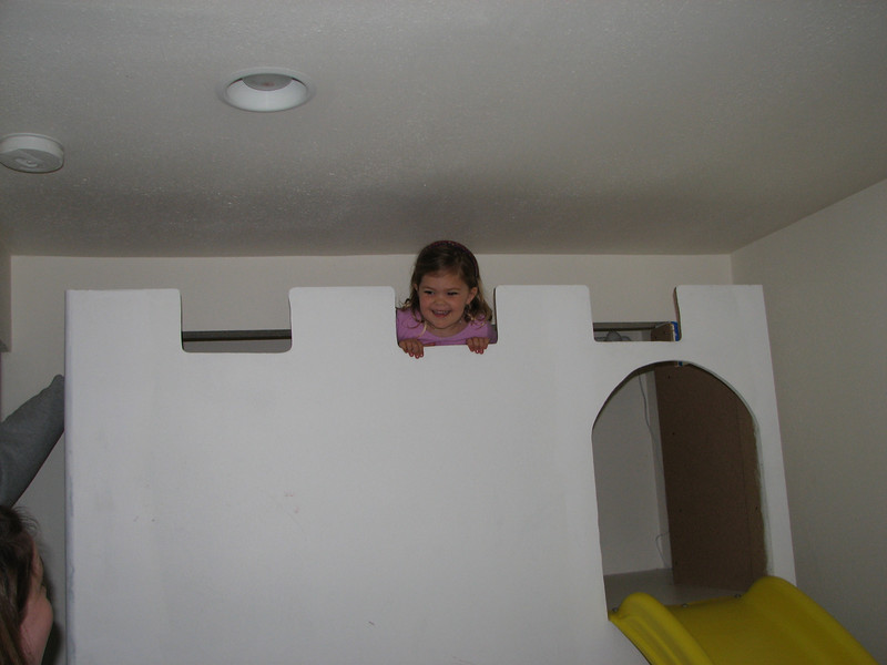 2007 04 09 Mon - Coram Deo church Pastor's daughter atop her closet castle