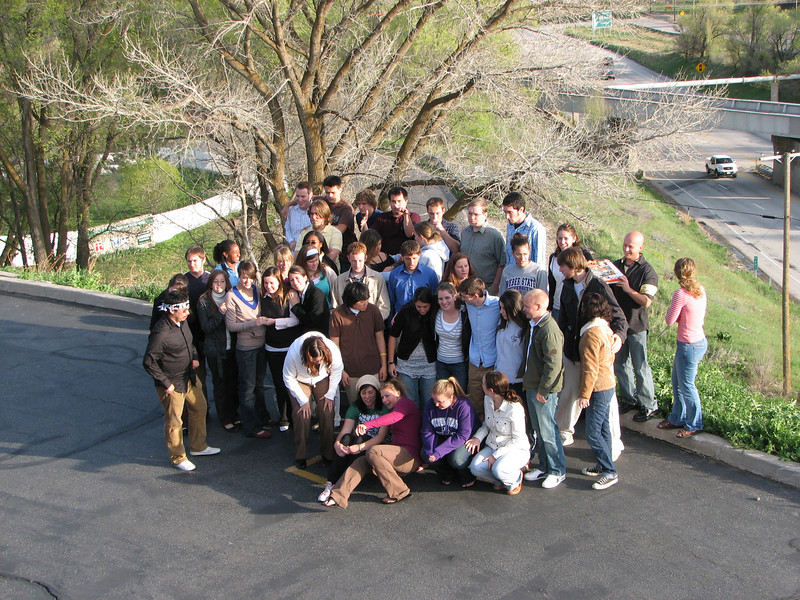 2007 04 12 Thu - Crossroads Christian Fellowship in Ogden, UT - Candid group pic 2