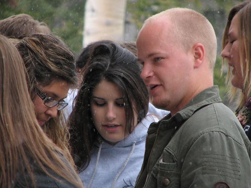 2007 04 15 Sun - Debrief Cabin - Alex Horn, Ashley Marino, Billy Maxfield, & Kari Walton on deck