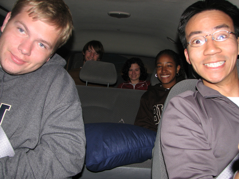2007 04 15 Sun - Van 2 drive home - Dean Swedberg, Adam Moon, Michelle Zappa, Kayla Thomas, & Ben Yu
