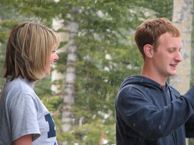 2007 04 15 Sun - Debrief Cabin - Hillary Karwowski & Josh Jones on deck