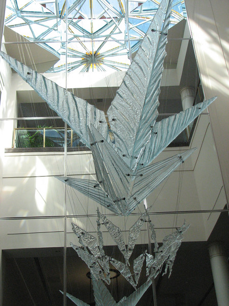 2007 04 11 Wed - Temple Square - 'Piece of Glass' sculpture in Convention Center 3