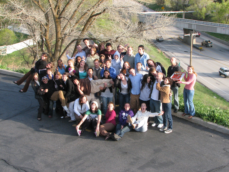 2007 04 12 Thu - Crossroads Christian Fellowship in Ogden, UT - Group pic 2 - goofy