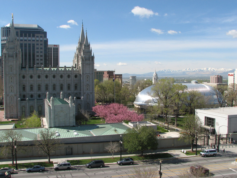 2007 04 11 Wed - Temple Square from Conference Center rooftop