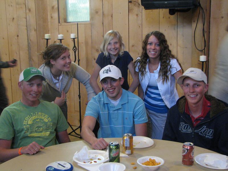 2007 04 13 Fri - Hangout Day @ Christ EV Free - Chillin' & Chowin' 9 - C brothers, Shannon Mullin, Plimton daughter, & Stefanie