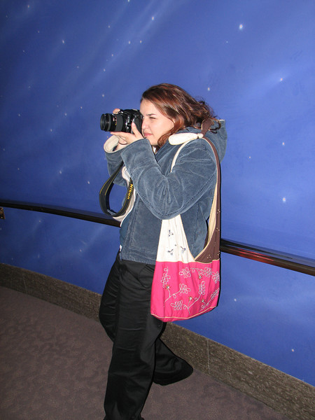 2007 04 11 Wed - Temple Square - The real photographer snapping Space Jesus