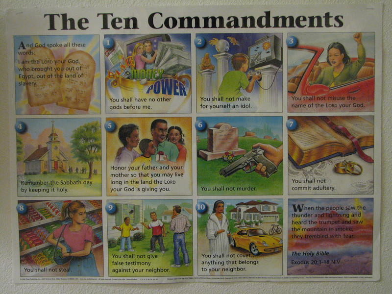2007 04 13 Fri - Christ EV Free - Hilar 10 Commandments poster