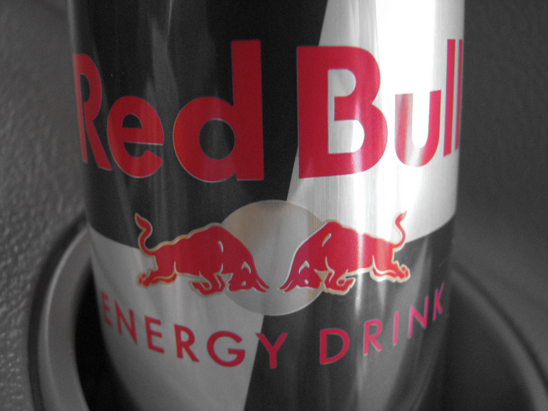 2007 04 14 Sat - In-camera color emphasized Red Bull can