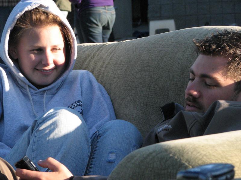 2007 04 13 Fri - Hangout Day @ Christ EV Free - Rachel Weaver & Brant Curtis