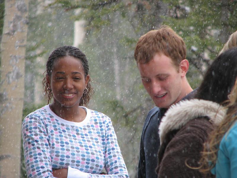 2007 04 15 Sun - Debrief Cabin - Kayla Thomas & Josh Jones on deck