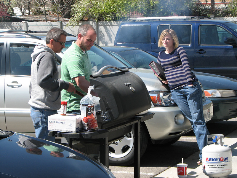 2007 04 13 Fri - Calvary Mountain View - BBQ'ing for us 2