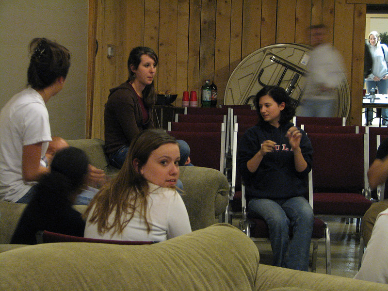 2007 04 08 Sun - Joint dinner with Christ EV Free college group 5 - Angelina D'Angelo, Kayla Thomas, Ashley Clifford, Theresa Norcia, & Michelle Zappa 1