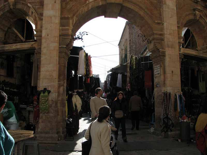 2007 12 29 Sat - Old City walk - Market area outside Church of Holy Sepulcre 2
