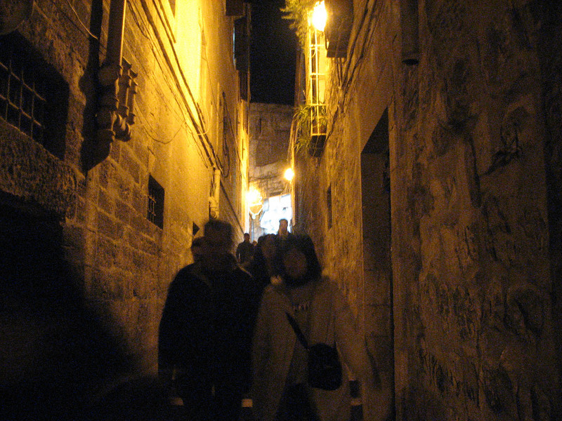 2007 12 28 Fri - Jerusalem - typical alley in Old City