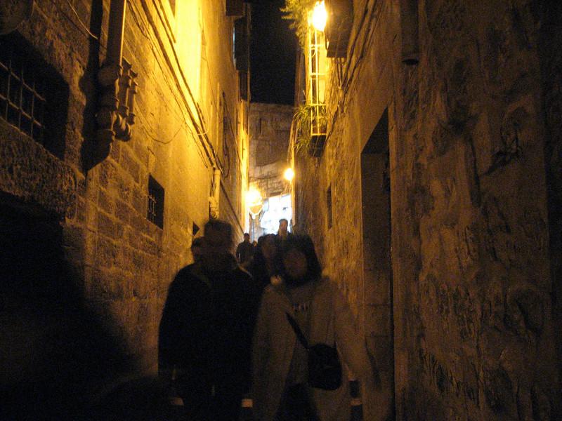 2007 12 28 Fri - Jerusalem - typical alley in Old City