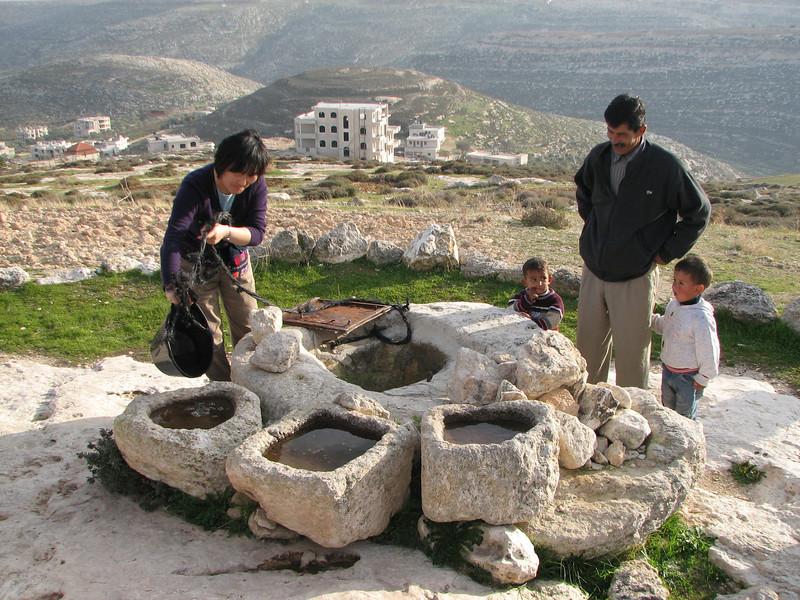 2008 01 01 Tue - Palestinian shepherd wells 1