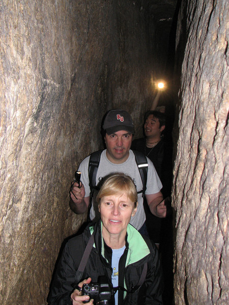 2007 12 30 Sun - Patty & Kevin Lawson, & Rand Cho in Hezekiah's Tunnel