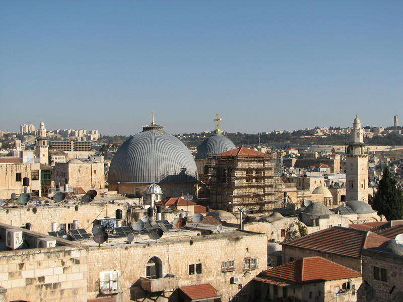 2007 12 29 Sat - Old City walk - Church of the Holy Sepulcre & Hebrew Univ