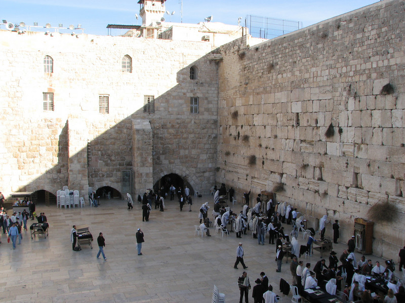 2007 12 31 Mon - Wailing Wall - Western Wall of the Jerusalem Temple Mount