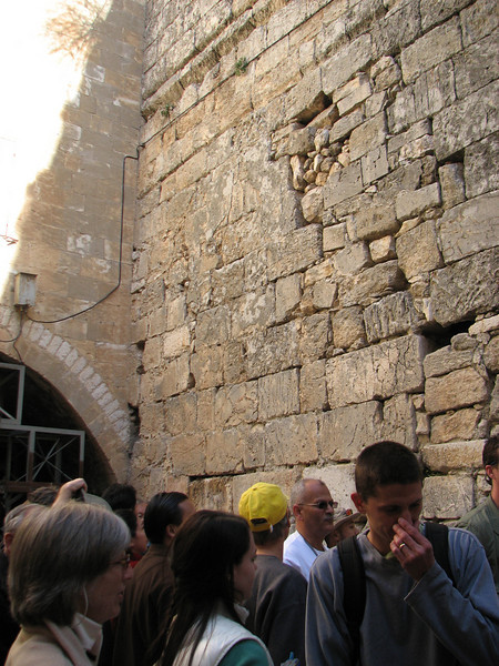 2007 12 31 Mon - Mini Wailing Wall on other side of Western Wall - Talbot Biblelands 2007-2008