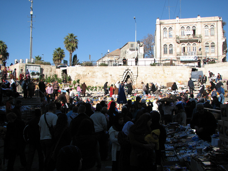 2007 12 29 Sat - Old City walk - Damascus Gate market on North side of Old City 1