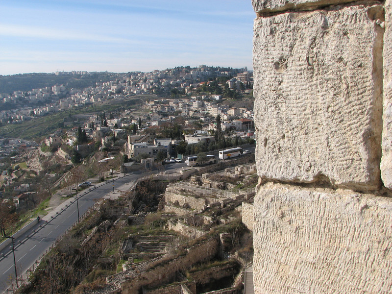 2007 12 31 Mon - City of David from Southern Wall on Temple Mount 2